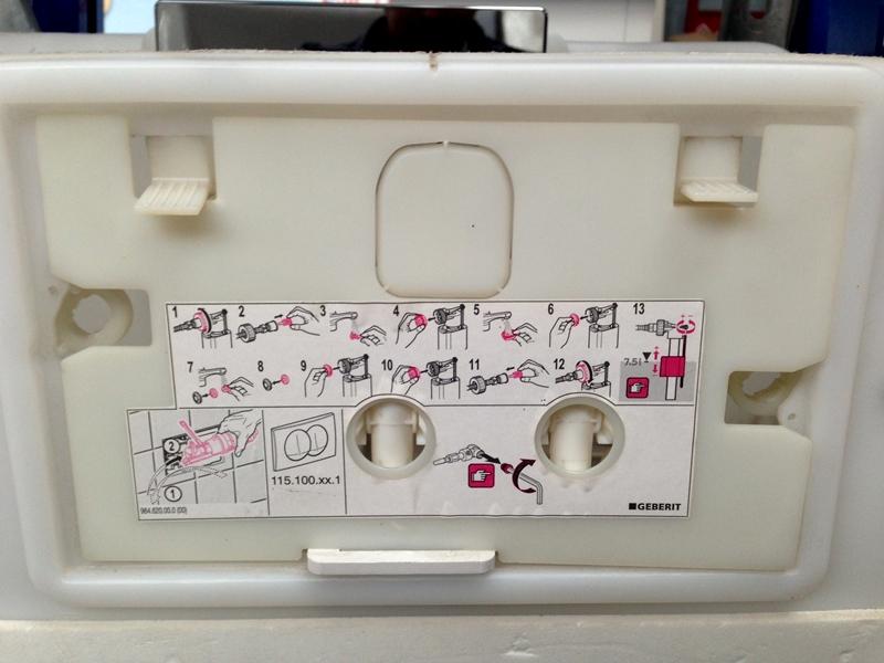 przycisk sp ukuj cy do up100 geberit delta50. Black Bedroom Furniture Sets. Home Design Ideas