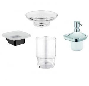 Mydelniczki, kubki i dozowniki do mydła