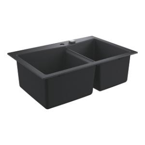 2 komorowy zlew do kuchni Grohe K700 90-C czarny granit 31657AP0