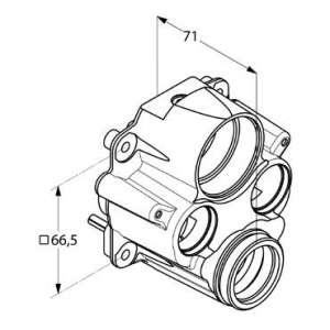 Adapter do termostatycznej baterii podtynkowej KLudi 740010000
