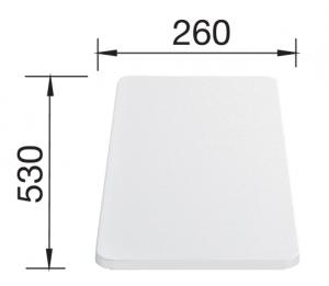 Biała deska z tworzywa do krojenia Blanco 217611