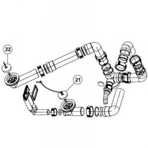 Blanco R-ZS armatura przelewowo-odpływowa 2x1,5