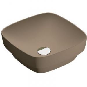 Catalano Green Lux umywalka 40 cm kwadratowa brązowy mat 140AGRLXMS