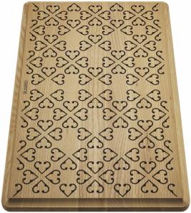 Drewniana deska z ornamentem Blanco 237591 do Faron