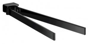 Emco Loft podwójny wieszak na ręczniki 310 mm czarny 055013331