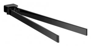 Emco Loft podwójny wieszak na ręczniki 410 mm czarny 055013341