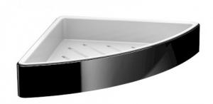 Emco Loft narożna półka prysznicowa czarna 054513303