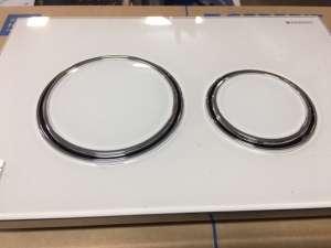 Geberit Sigma 21 przycisk spłukujący białe szkło 115.884.SI.1