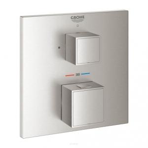 Grohe Grohtherm Cube bateria prysznicowa podtynkowa termostatyczna stal nierdzewna 24153DC0
