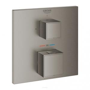 Grohe Grohtherm Cube bateria prysznicowa podtynkowa termostatyczna brushed hard graphite 24153AL0