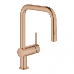 Grohe Minta bateria kuchenna stojąca brushed warm sunset 32322DL2