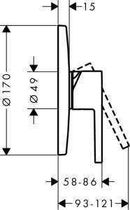 Hansgrohe Axor Starck 10614000 podtynkowa bateria prysznicowa