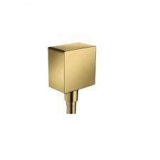 Hansgrohe Fixfit Square przyłącze kątowe złoto optyczne 26455990