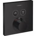 Hansgrohe ShowerSelect bateria wannowa podtynkowa termostatyczna czarny mat 15763670