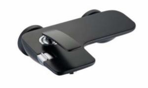 Kludi Balance Black bateria wannowa ścienna 524458775 czarny mat