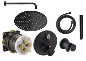 Kludi Balance Black termostatyczny zestaw podtynkowy z deszczownicą 300