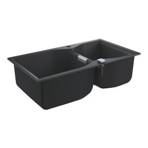 Kompozytowy zlew kuchenny Grohe K700 100-C 31658AP0 czarny granit
