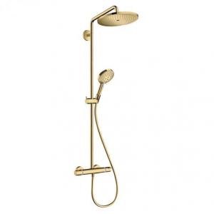 Natynkowy zestaw Hansgrohe Showerpipe złoto optyczne 26891990