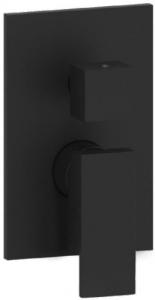 Paffoni Elle bateria wannowa podtynkowa z przełącznikiem czarny mat EL018NO