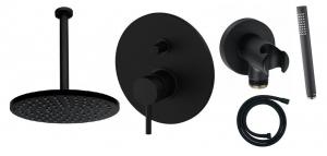 Paffoni Light Black 280 zestaw podtynkowy z deszczownicą