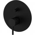 Paffoni Light bateria wannowo-prysznicowa podtynkowa czarny mat LIG015NO