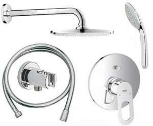 Podtynkowy komplet prysznicowy Bauloop 210