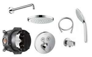 Podtynkowy termostatyczny zestaw prysznicowy Showerselect