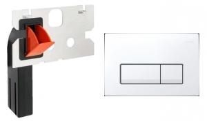 Przycisk Geberit Delta51 biały z kostkarką do Basica
