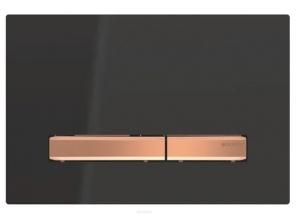 Przycisk Geberit Sigma50 115.670.DW.2 czarny ze złotem do UP320