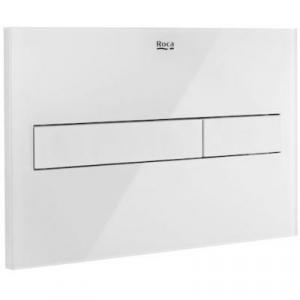 Roca PL7 przycisk spłukujący wc biały mat/szkło A890188309