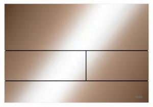 TECE Square przycisk spłukujący do WC z metalu czerwone złoto połysk 9.240.841
