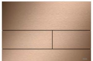 TECE Square przycisk spłukujący do WC z metalu czerwone złoto szczotkowane 9.240.840