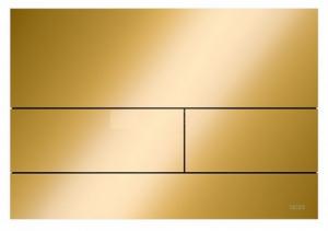 TECE Square przycisk spłukujący do WC z metalu złoty optyczny połysk 9.240.839