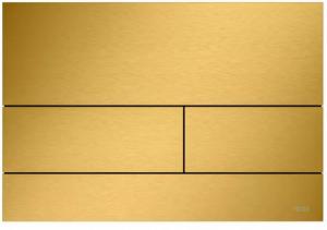TECE Square przycisk spłukujący do WC z metalu złoty optyczny szczotkowany 9.240.838
