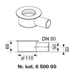 Tece Drainline kolana odpływowe z syfonem 650000
