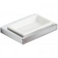 Teka Formentera mydelniczka ceramiczna biały-chrom 170820200