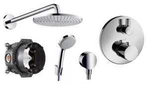 Termostatyczny zestaw prysznicowy podtynkowy Ecostat S