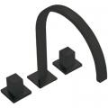 Tres Cuadro Exclusive bateria umywalkowa 3-otworowa czarny mat 008.105.01.NM