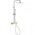 Tres Loft Colors zestaw prysznicowy z baterią termostatyczną pomarańczowy/chrom 200.195.01.NA