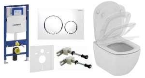 Zestaw podtynkowy wc Geberit UP320 + wc Tesi Aquablade z deską wolnoopadającą