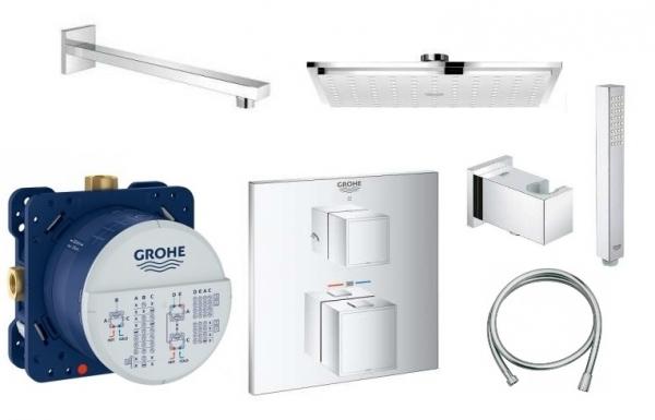 Grohe GrothermCube zestaw podtynkowy termostatyczny z deszczownicą Grohe Allure 23cm-image_Grohe_27479000_1