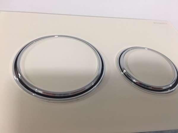 Szklany przycisk do spłuczki podtynkowej geberit Sigma21 115884TG1 w wersji szkło piaskowe-image_Geberit_115.884.TG.1_1