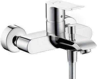 Ścienna bateria wannowa Hansgrohe Metris E2 31480000 do kompletowania z dowolnym zestawem prysznicowym.-image_Hansgrohe_31480000_1