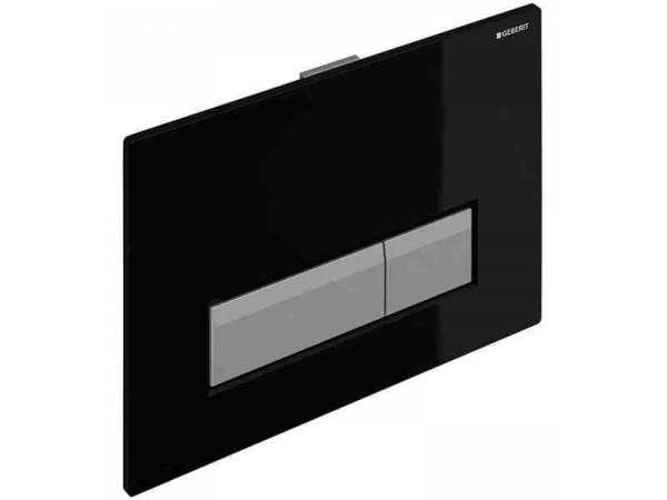 Płytka uruchamiająca spłukiwanie Geberit Sigma40 115.600.KR.1 - plastikowa w kolorze czarnym do spłuczek podtynkowych Geberita z odciągiem bocznym.-image_Geberit_115.600.KR.1_1