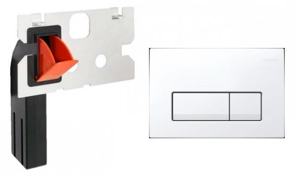 Geberit Delta 51 przycisk spłukujący do wc kolorze białym w zestawie z kostkarką.-image_Geberit__1