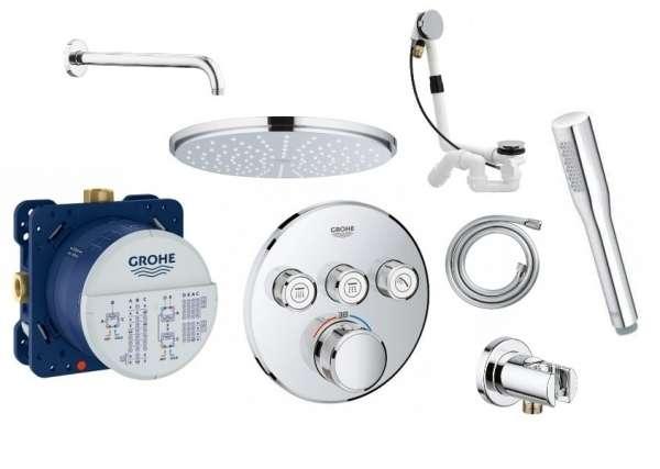 Grohe Smartcontrol pakiet podtynkowy z baterią termostatyczną do 3 odbiorników -image_grohthermsmart_shower_set_1
