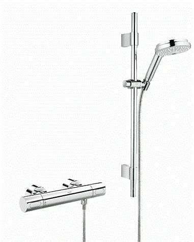 Grohe Grotherm 3000 Cosmopolitan zestaw batria prysznicowa z termostatem wraz z zestawem prysznicowym 34275000-image_Grohe_34275000_1