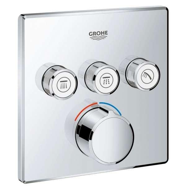 Podtynkowa bateria do obsługi 3 odbiorników Grohe Smartcontrol 29149000, element zewnętrzny do kompletowania z 35600.-image_Grohe_29149000_1
