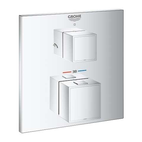 Elementy zewnetrzne termostatycznej baterii do obsługi 2 odbiorników Grohe Grohetherm Cube 24154000-image_Grohe_24154000_1
