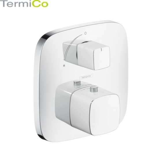 Element zewnętrzny podtynkowej baterii prysznicowej Hansgrohe Puravida z termostatem w wersji chrom.-image_Hansgrohe_15775000_1